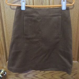 NWT Warm rich camel color wool skirt
